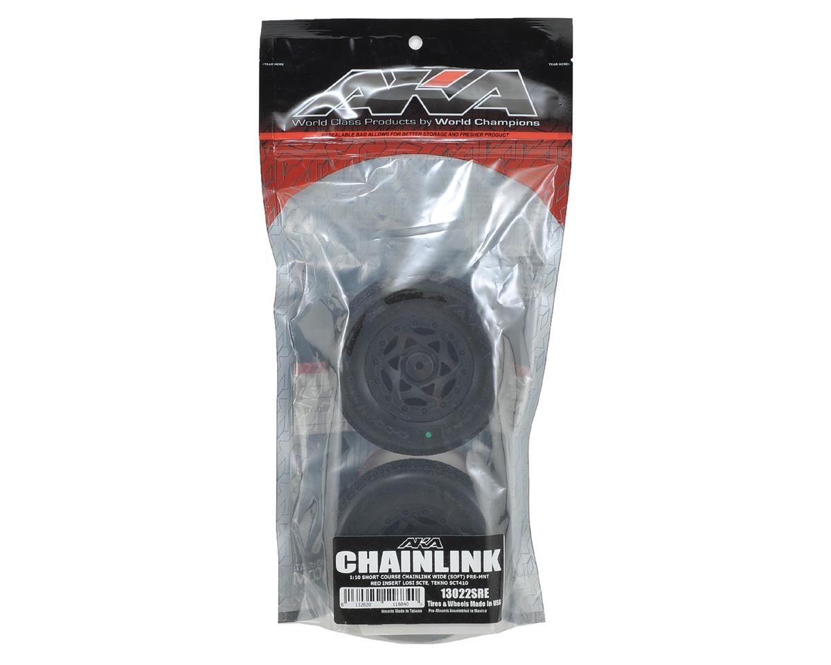 AKA13022CRE-P AKA Chain Link Link Link Wide SC Pre-Mounted Tires (22SCT TEN-SCTE) (2) 150765